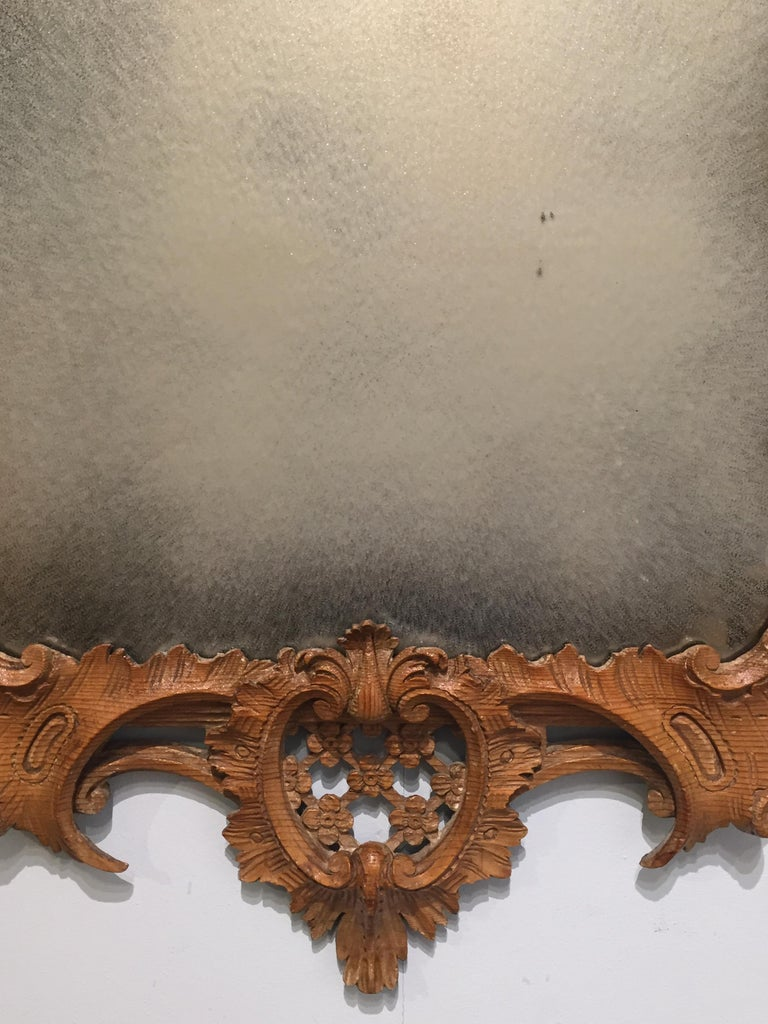 George II Period Rococo Carved Mirror Frame of Astonishing Quality and Detail For Sale 6