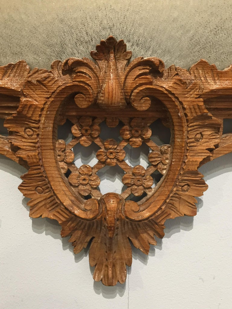 English George II Period Rococo Carved Mirror Frame of Astonishing Quality and Detail For Sale