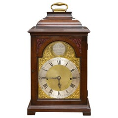 George II Quarter Chiming English Fusee Bracket Clock by John Pyke, London