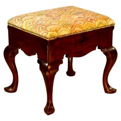 George II Red Walnut Stool