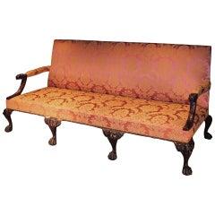 George II Revival Carved Mahogany Settee