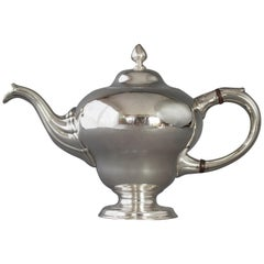 George II Scottish Silver Teapot, Edinburgh 1749 by Edward Lothian