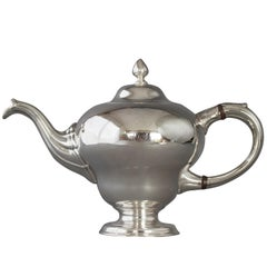 George II Scottish Silver Teapot, Edinburgh, 1749