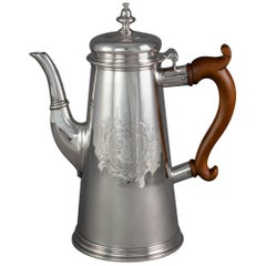 George II Silver Coffee Pot London 1730 by Thomas Farren