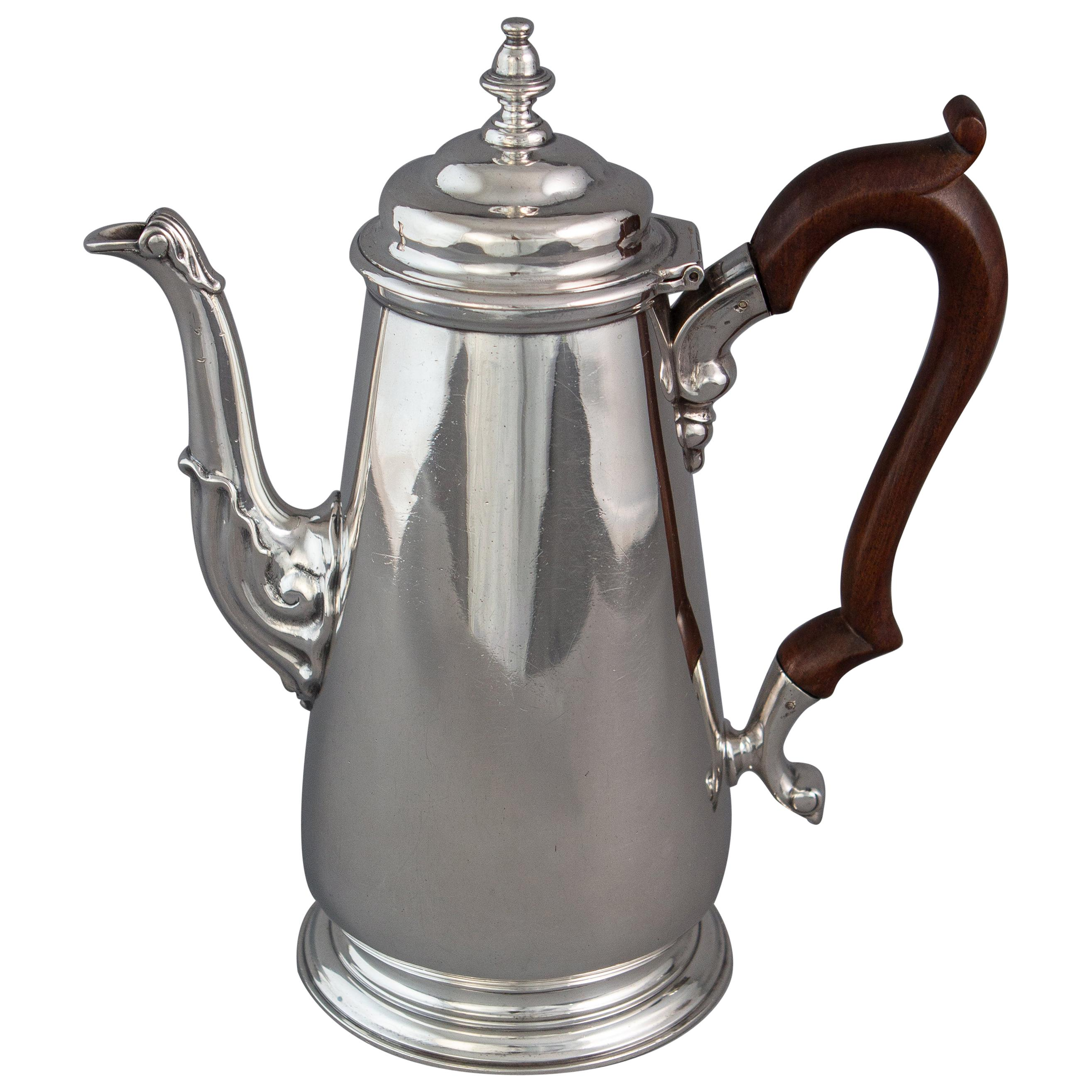 George II Silver Coffee Pot, London 1735 by Augustin Courtauld