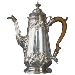 George II Silver Coffee Pot, London 1752 by Samuel Courtauld