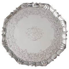 George II Silver Salver by Robert Abercromby, London, 1740
