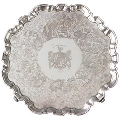 George II Silver Salver, London, 1744 by John Luff
