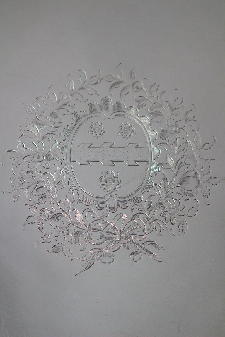 George II Silver Salver, Richard Rugg, London, 1759 For Sale 4