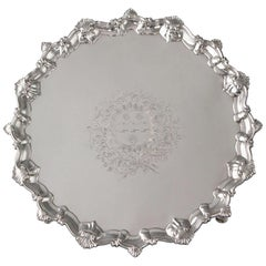 George II Silver Salver, Richard Rugg, London, 1759