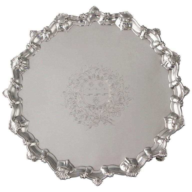 George II Silver Salver, Richard Rugg, London, 1759 For Sale
