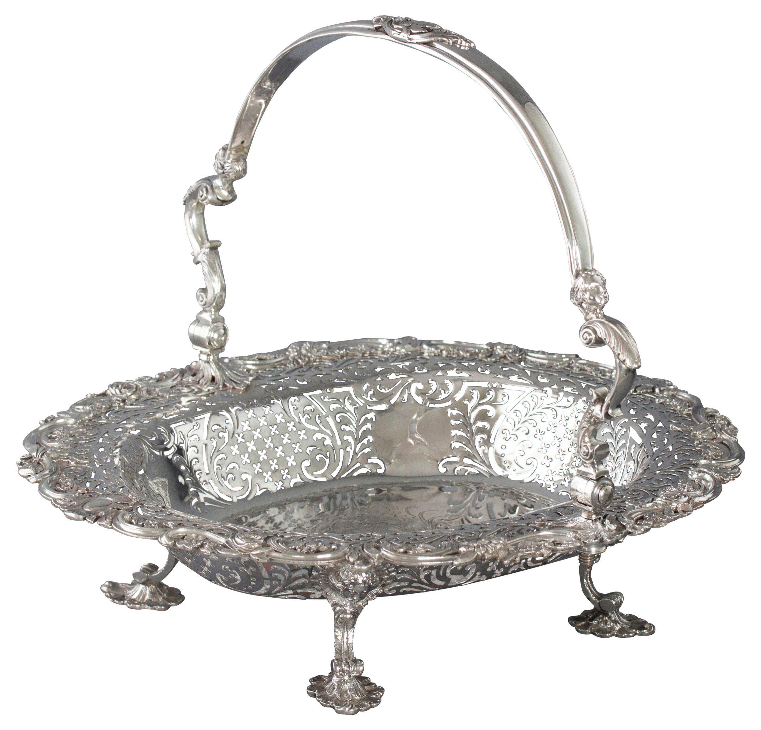 George II Sterling Silver Basket, London, 1747