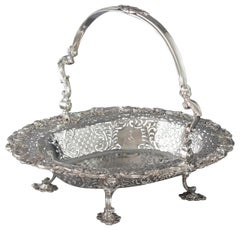 George II Sterling Silver Basket, London, 1747