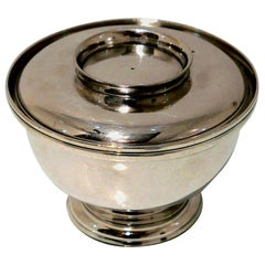 George II Sterling Silver Sugar Bowl and Cover London 1729 Edward Cornock