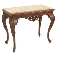 George II Style Carved Mahogany Console Table