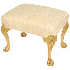 George II Style Giltwood Bench