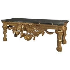 George II Style Giltwood Console Table in the Manner of William Kent, circa 1900