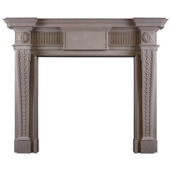George II Style Lincoln Stone Fireplace