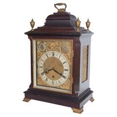 George II Style Mahogany Mantel or Bracket Clock