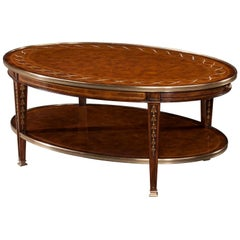 George II Style Oval Coffee Table