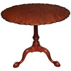 George II Style Pie Crust Table