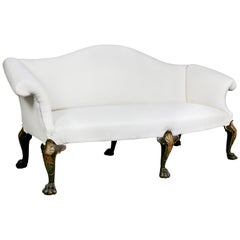 George II Style Walnut and Giltwood Sofa