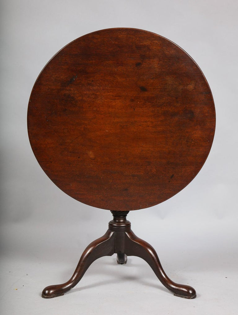 George II Tripod Table In Good Condition For Sale In New York, NY