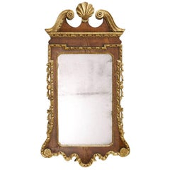 George II Walnut and Gilt Wood Mirror, England, circa 1730