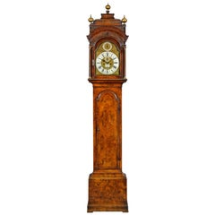 George II Walnut Longcase Clock by James Blackborow, London