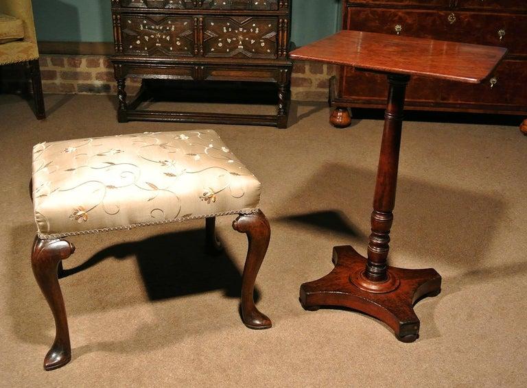 George II Walnut Stool, circa 1740 For Sale 1