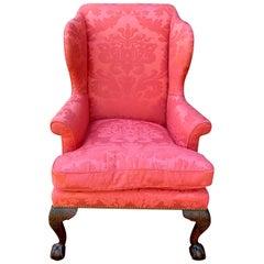 George II Walnut Wingback Armchair