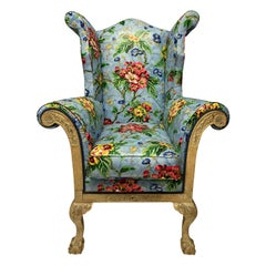 George II Wing Armchair of Generous Proportions