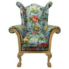 George II Wing Armchair of Generous Proportions