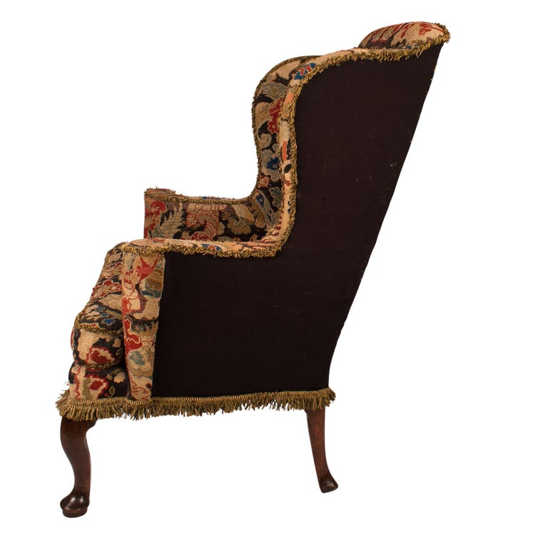 George II Wing Chair, England, circa 1750 In Good Condition For Sale In San Francisco, CA