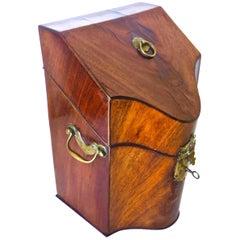 George III 18th Century Mahogany Letter Box