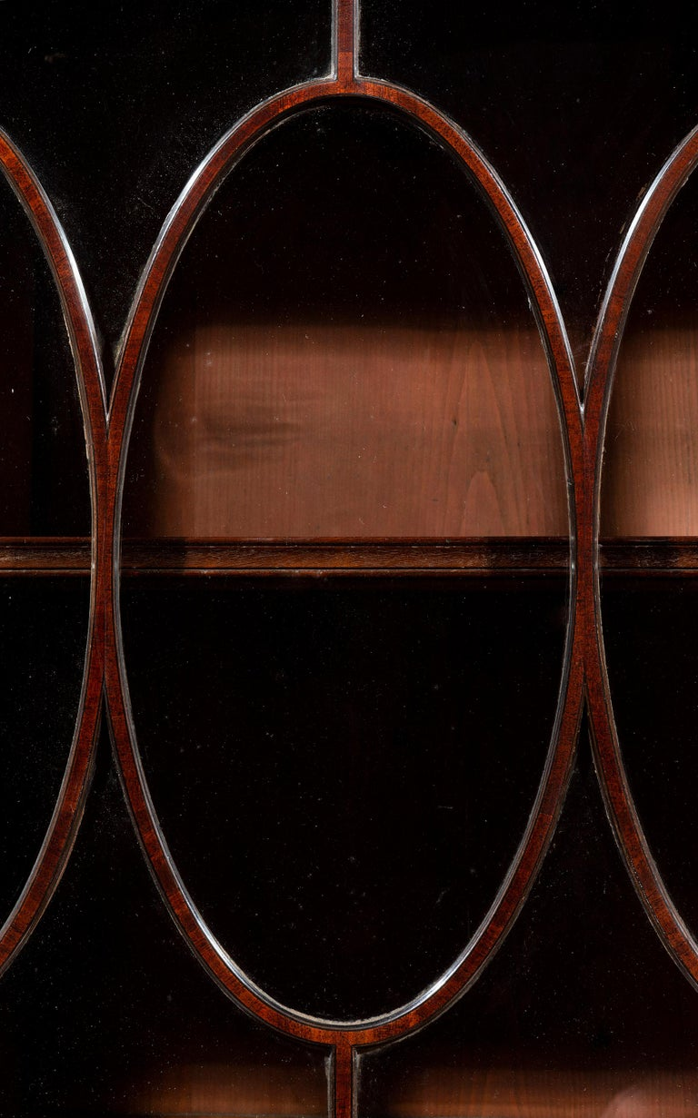 Late 18th Century George III 18th Century Period Mahogany Secretaire Bookcase Attributed to Gillow For Sale