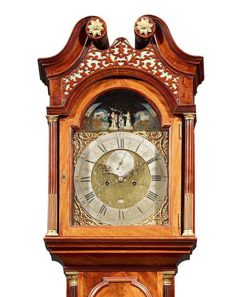English George III Adam and Eve Automaton Longcase Clock For Sale