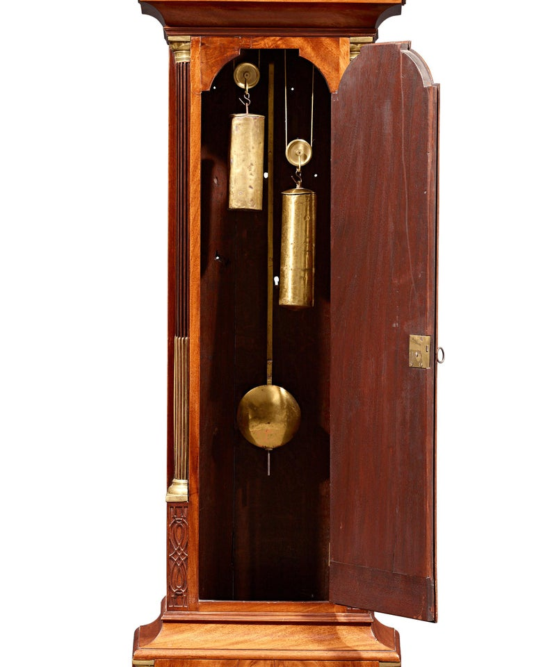 George III Adam and Eve Automaton Longcase Clock In Excellent Condition For Sale In New Orleans, LA