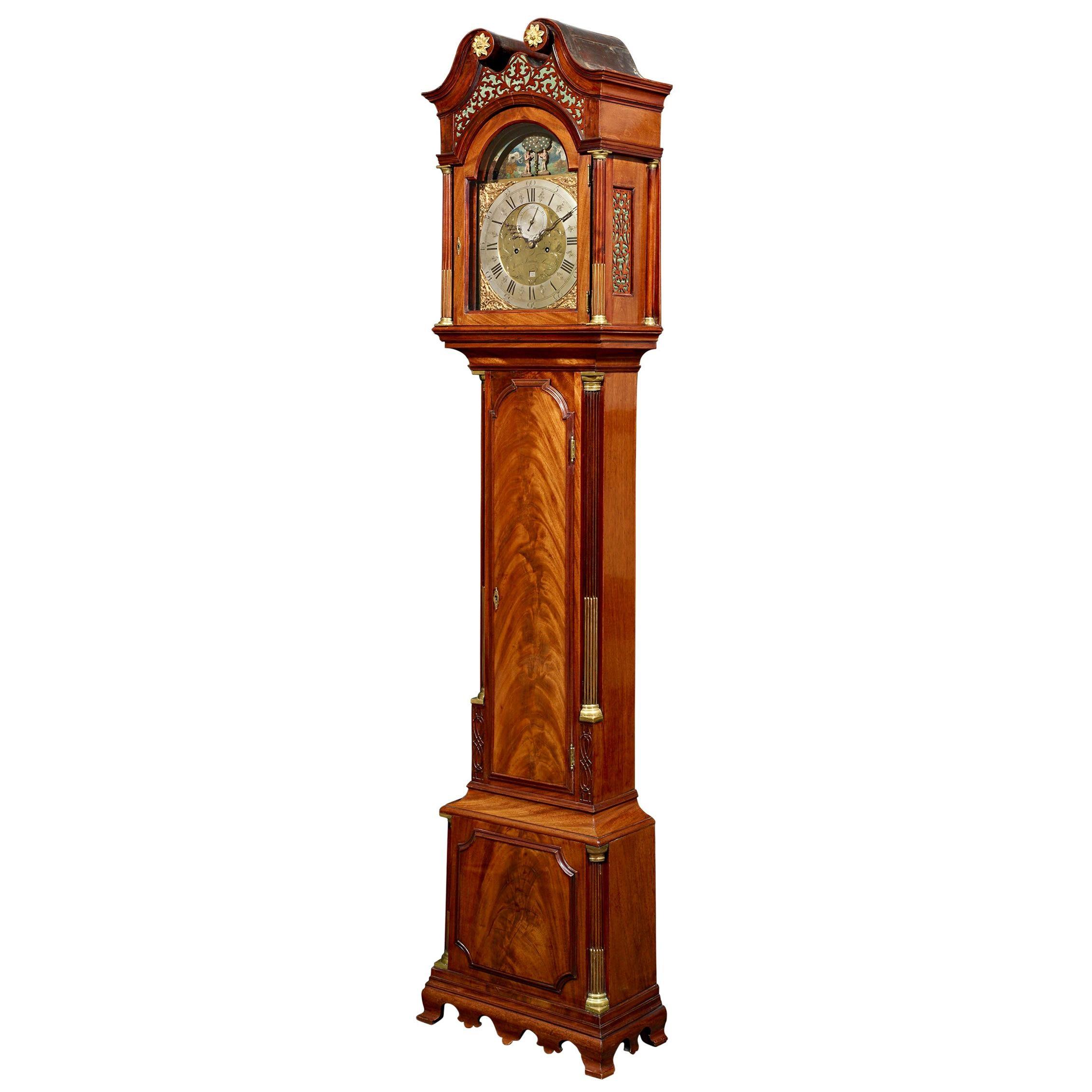 George III Adam and Eve Automaton Longcase Clock