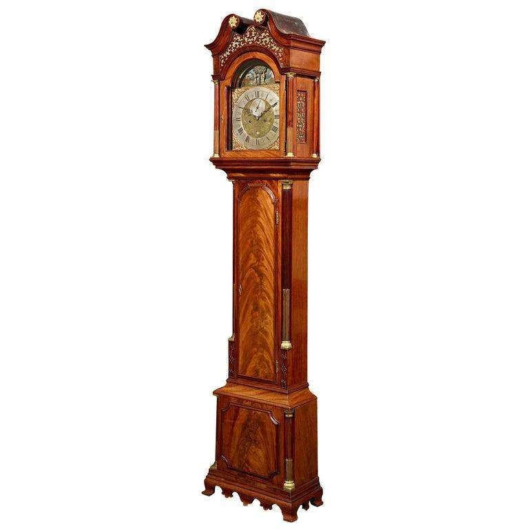 George III Adam and Eve Automaton Longcase Clock For Sale