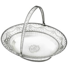 George III Bread Basket Made in Sheffield in 1777 by Richard Morton & Company