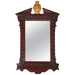 George III Carved Mahogany Mirror Frame, Late 18th Century