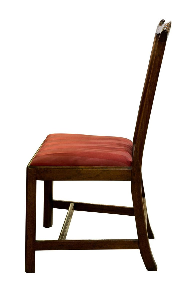 Irish  George III Carved Walnut Standard Chair in the Manner of John Whitby For Sale