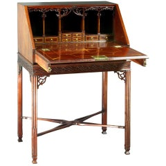 George III Chippendale Period Bureau on its Original Stand