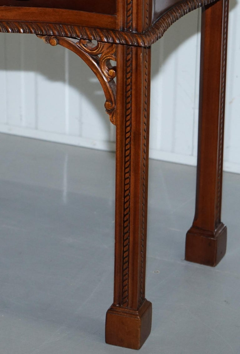 George III Chippendale Style Fold over Tea Card Table Lovely Period Features For Sale 5