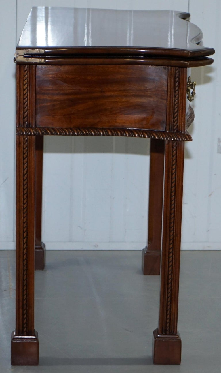 George III Chippendale Style Fold over Tea Card Table Lovely Period Features For Sale 6