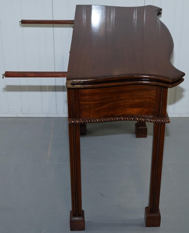 George III Chippendale Style Fold over Tea Card Table Lovely Period Features For Sale 8