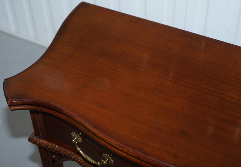 George III Chippendale Style Fold over Tea Card Table Lovely Period Features In Good Condition For Sale In London, GB