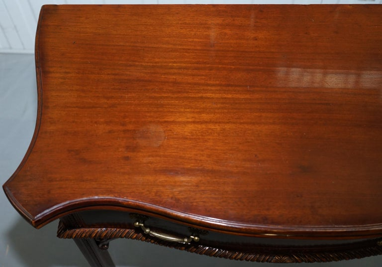 20th Century George III Chippendale Style Fold over Tea Card Table Lovely Period Features For Sale