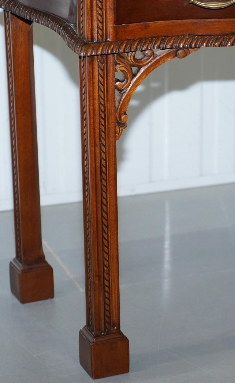 George III Chippendale Style Fold over Tea Card Table Lovely Period Features For Sale 2